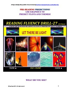 Use Graphics to Predict Plots and Themes! FLUENCY CAN BE INCREASED! Drill-27!
