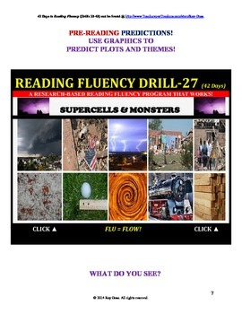 Use Graphics to Predict Plots and Themes! FLUENCY CAN BE INCREASED! Drill-28!