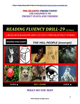 Use Graphics to Predict Plots and Themes! FLUENCY CAN BE INCREASED! Drill-29!