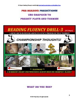 Use Graphics to Predict Plots & Themes! Fluency CAN BE INCREASED! Drill - 3!