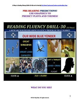 Use Graphics to Predict Plots and Themes! FLUENCY CAN BE INCREASED! Drill-30!
