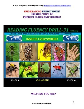 Use Graphics to Predict Plots and Themes! FLUENCY CAN BE INCREASED! Drill-31!