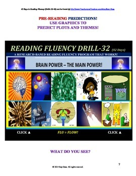 Use Graphics to Predict Plots and Themes! FLUENCY CAN BE INCREASED! Drill-32!