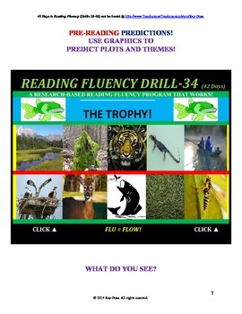 Use Graphics to Predict Plots and Themes! FLUENCY CAN BE INCREASED! Drill-34!