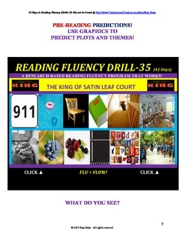Use Graphics to Predict Plots & Themes! Fluency CAN BE INCREASED! Drill-35!