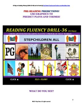 Use Graphics to Predict Plots and Themes! FLUENCY CAN BE INCREASED! Drill-36!