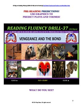 Use Graphics to Predict Plots and Themes! FLUENCY CAN BE INCREASED! Drill-37!