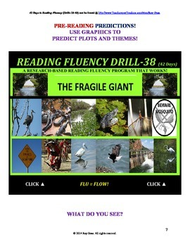 Use Graphics to Predict Plots and Themes! FLUENCY CAN BE INCREASED! Drill-38!