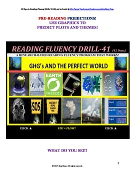 Use Graphics to Predict Plots and Themes! FLUENCY CAN BE INCREASED! Drill-41!