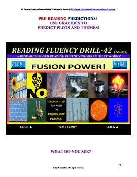 Use Graphics to Predict Plots and Themes! FLUENCY CAN BE INCREASED! Drill-42!