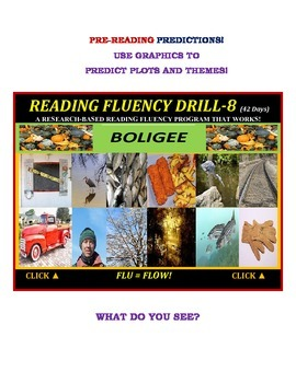Use Graphics to Predict Plots and Themes! FLUENCY CAN BE INCREASED! Drill -8!