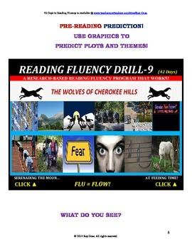 Use Graphics to Predict Plots and Themes! FLUENCY CAN BE INCREASED! Drill -9!