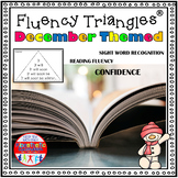 Reading Fluency Activity - December and Dec. Holiday Themed Fluency Triangles ®
