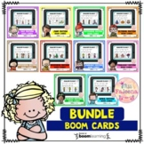 Reading Fluency Digital Task Cards Growing Bundle (Boom Cards™)