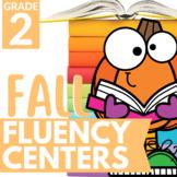 Reading Fluency Fall Centers | 2nd Grade 3rd Grade Fall Li