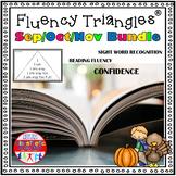Reading Fluency Activity - Fluency Triangles®: Sep/Oct/Nov Bundle