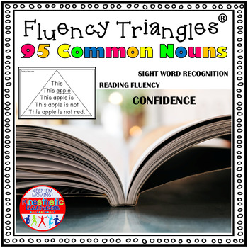 Reading Fluency Activity - Fluency Triangles® for 95 Nouns {RTI}