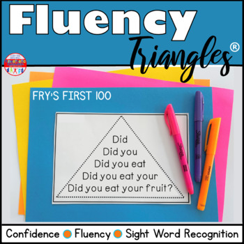 Reading Fluency Activity - Fluency Triangles® Fry's First 100 Sight Words {RTI}