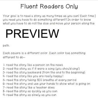 Reading Fluency Game