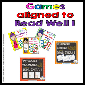 """Reading Fluency Game, """"I Have, Who Has?"""" - Aligned to Read Well I (Unit 33)"""