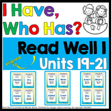 """Reading Fluency Game, """"I Have, Who Has?"""" - Aligned to Read Well I (Units 19-21)"""