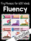 Reading Fluency Games - ALL Fry Phrases - Bundle