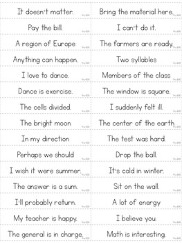 Reading Fluency Games - SIXTH 100 Fry Phrases