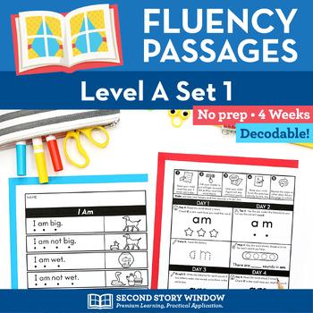 Reading Fluency Homework Level A Set 1