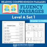 Reading Fluency Homework Level A Set 1 - Distance Learning Packet