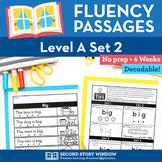Reading Fluency Homework Level A Set 2