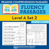 Reading Fluency Homework Level A Set 2 - Distance Learning Packet
