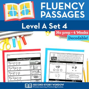 Reading Fluency Homework Level A Set 4