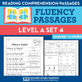 Reading Fluency Homework Level A Set 4 - Distance Learning Packet