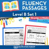 Reading Fluency Homework Level B Set 1