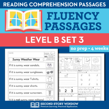 Reading Fluency Homework Level B Set 3