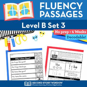 Reading Fluency Homework Level B Set 3