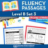 Reading Fluency Homework Level B Set 3 - Distance Learning Packet