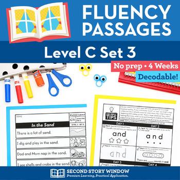 Reading Fluency Homework Level C Set 3