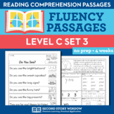 Reading Fluency Homework Level C Set 3 - Distance Learning Packet