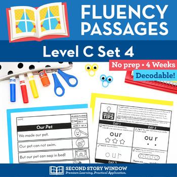 Reading Fluency Homework Level C Set 4