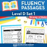 Reading Fluency Homework Level D Set 1