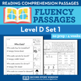 Reading Fluency Homework Level D Set 1 - Distance Learning Packet
