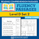 Reading Fluency Homework Level D Set 2
