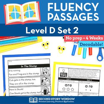 Reading Fluency Homework Level D Set 2