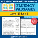 Reading Fluency Homework Level E Set 1 - Reading Comprehen