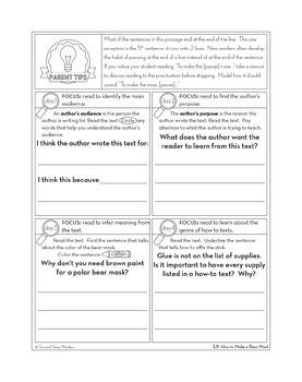 Reading Fluency Homework Level E Set 2