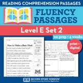 Reading Fluency Homework Level E Set 2 - Reading Comprehen