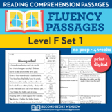 Reading Fluency Homework Level F Set 1