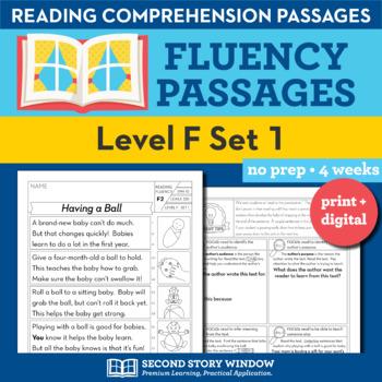 Reading Fluency Homework Level F Set 1