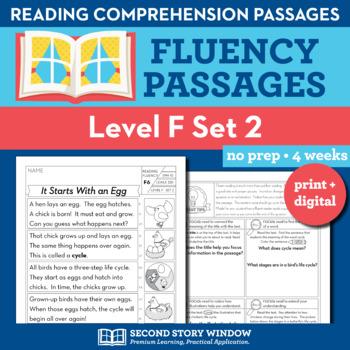 Reading Fluency Homework Level F Set 2